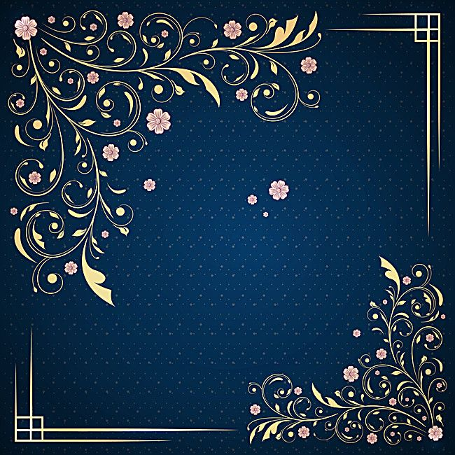 Annual Wedding Invitations Blue Pattern Background Material