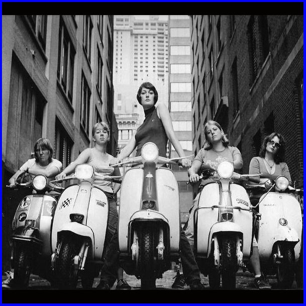Scooters girls with attitude!