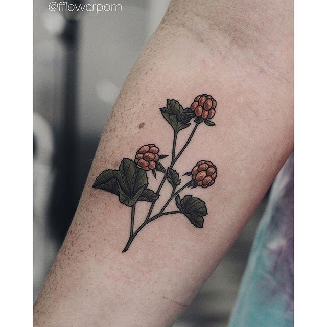 Sweet Cloudberry Tattoo by Olga Nekrasova