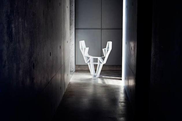 Geometric Deer Head Bookshelf Design