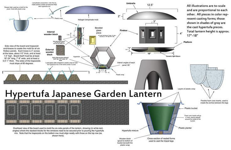 Make a Concrete Japanese Lantern