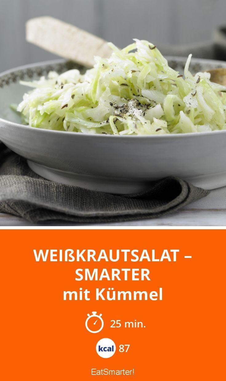 Weißkrautsalat – smarter - mit Kümmel - smarter - Kalorien: 87 kcal - Zeit: 25 Min. | eatsmarter.de