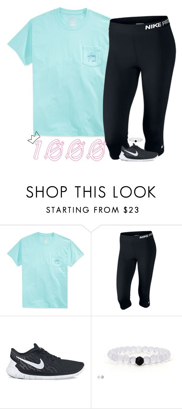"""thank y'all so much for 1000! I'm so excited!"" by lilypackard ❤ liked on Polyvore featuring Guy Harvey, NIKE and sassysouthernwinter"