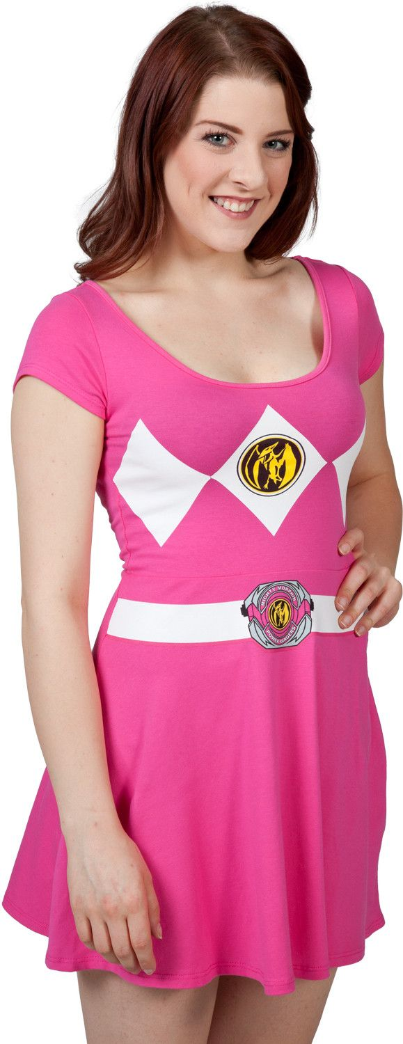 Pink Power Ranger Skater Dress - also available in the other ranger colors!