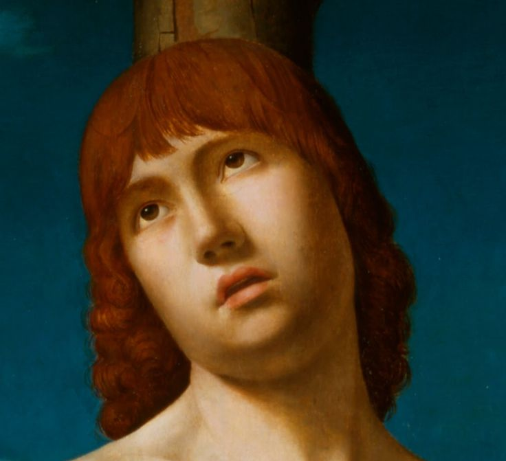 Détail Antonello_da_Messina_-_St._Sebastian 1477-9