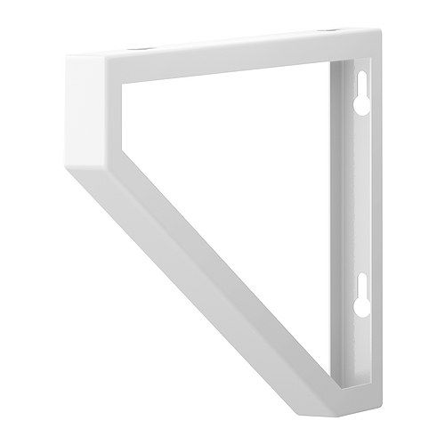"EKBY LERBERG  Bracket, white  $2.00  Article Number: 301.687.24  Works with both 7 1/2"" and 11"" deep shelves. Read more  $2"