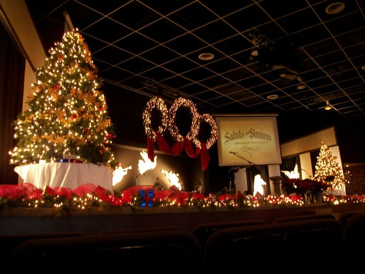 Church Christmas Decorating, large-scale