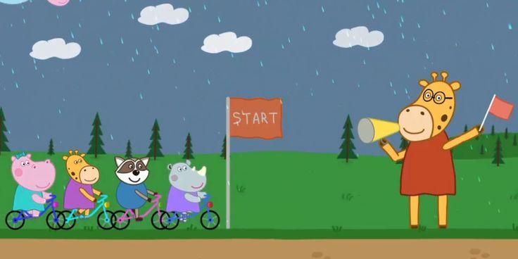 Пеппа - Гонки для детей - Гиппо Пеппа и велосипед