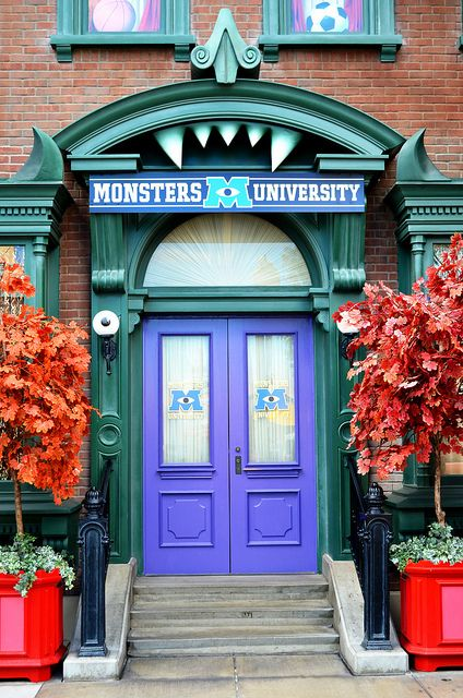 Monsters University doors