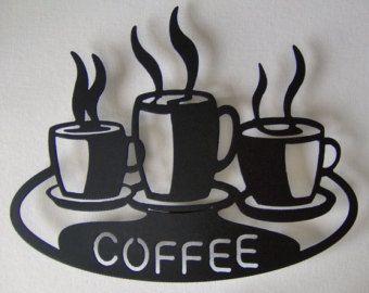 Tazas de café en el arte de pared de Metal por Back40MetalWorx
