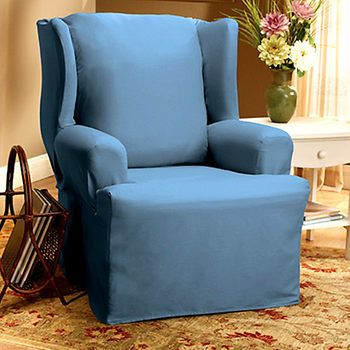 Cotton Duck Wing Chair Slipcover