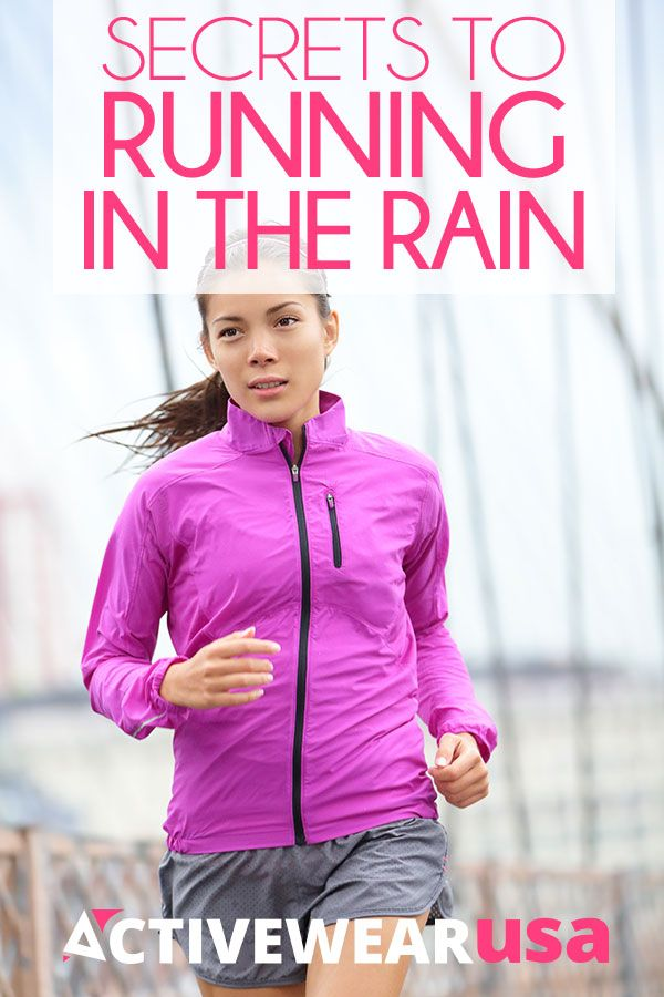 Don't let soggy weather cancel your plans to exercise outside. Just remember these smart tips for running when the rain is falling. #running #tips
