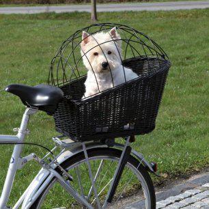 Panier chien porte bagage vélo et grille de sécurité TR noir