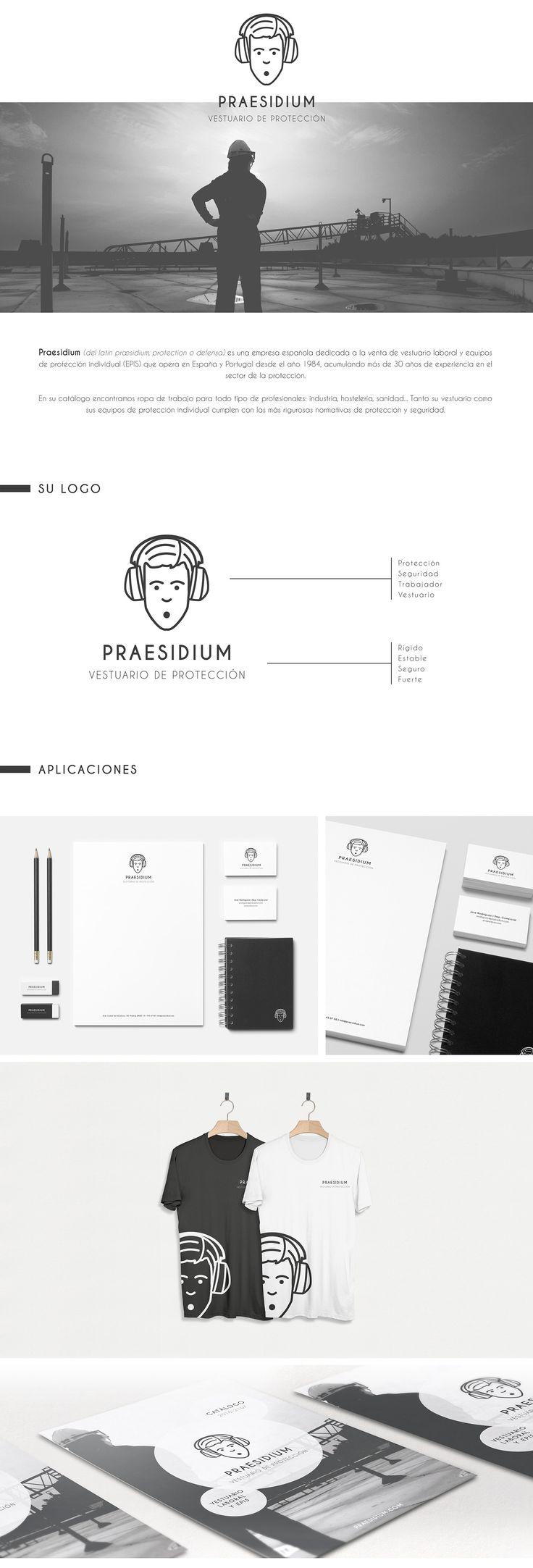 PRAESIDIUM - Vestuario de Protección on Behance #logo #brand #branding #marca #identidadvisual