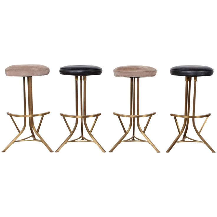 Set of Four Brass Barstools by John Stewart  sc 1 st  Pinterest & 589 best Bar Chair images on Pinterest | Chairs Bar stool and Stools islam-shia.org