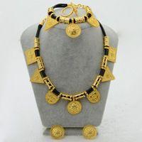 Gros Érythrée Habesha Éthiopien set Bijoux Collier Bracelet Boucle D'oreille Anneau Bijoux Plaqué Or De Mariage Afrique Femmes #054906