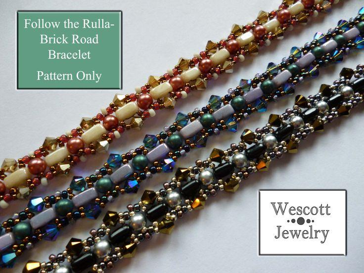 Pattern for Follow the Rulla-Brick Road Bracelet by WescottJewelry on Etsy https://www.etsy.com/listing/186002519/pattern-for-follow-the-rulla-brick-road