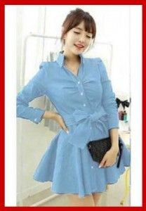 busana mini dress remaja korea monaco KK201