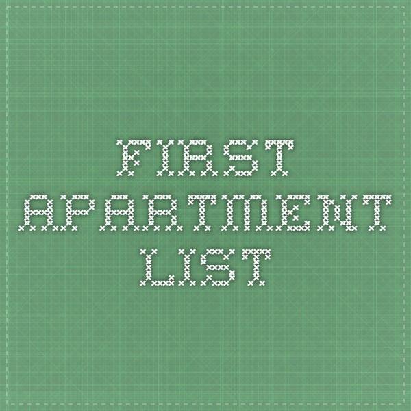 Best First Apartment List Ideas - Home Design Ideas ...