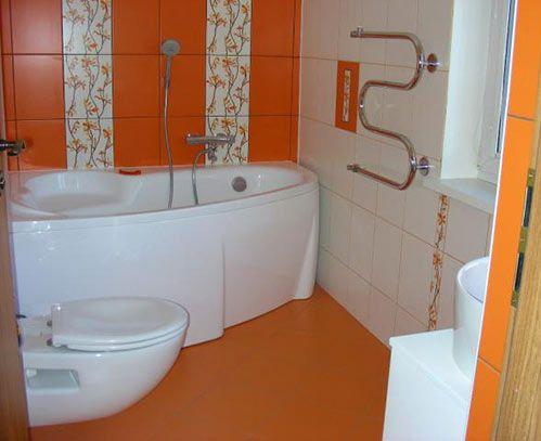 Маленькая ванная комната интерьер