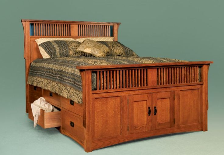 Storage Drawers | Oak King Size Storage Bed Under Bed Drawers Platform ...