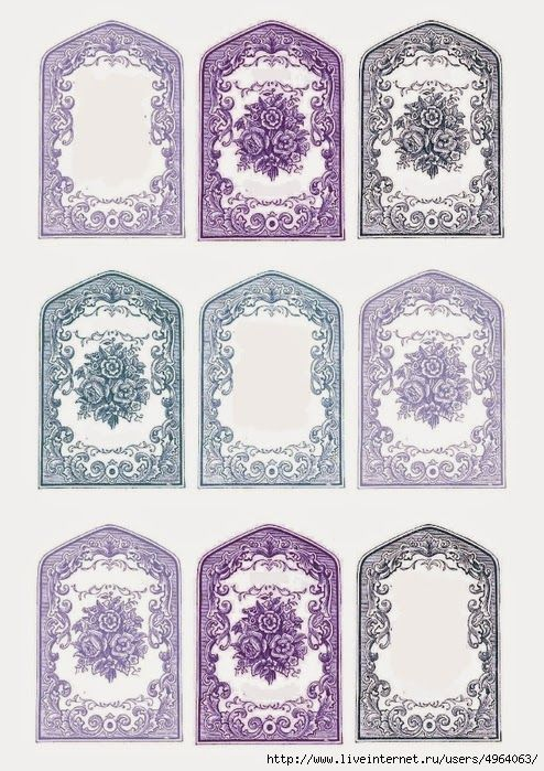 Retro Shabby Chic Labels.