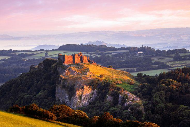 Sunrise, Carreg Cennen Castle, Trapp, Brecon Beacons, Carmarthenshire, Wales