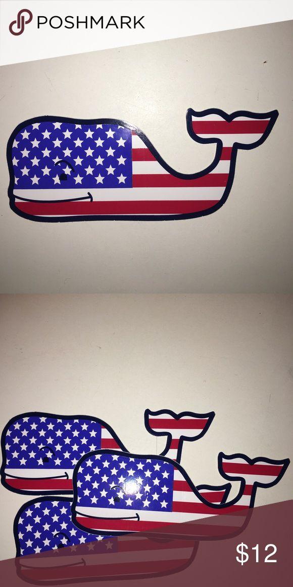 Vineyard Vines American flag stickers Vineyard Vines stickers set of 3 Vineyard Vines Accessories
