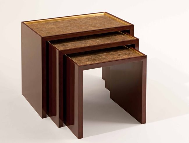 lacquered furniture. our hand lacquered furniture technique inspired by ancient oriental lacquerware is achieved applying numerous l