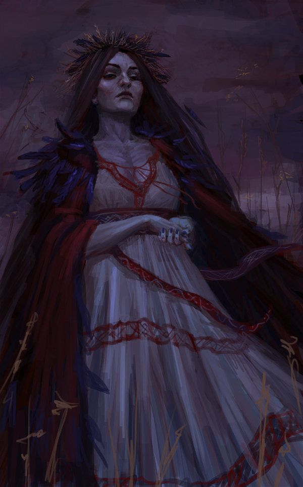 Morena, Slavic goddess of death by Hhabasi