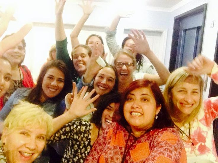 la primera selfie con mis compañeras en Uruguay en la certificación  internacional de planificadores de boda profesionales y bodas de destino......feliz...