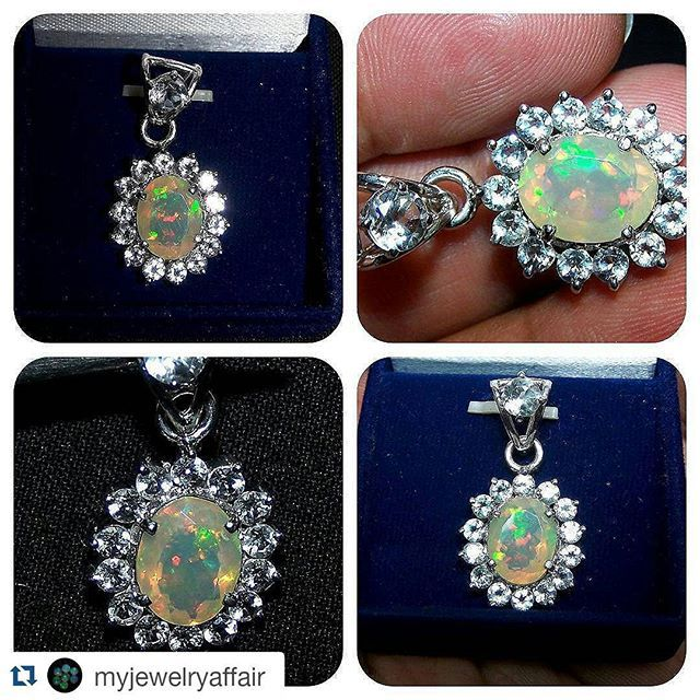 #Repost @myjewelryaffair with @repostapp  Some more pics...of our Custom Jewelry Work Completed....This amazing opal pendant are out from production  Being ship hope the customer likes it... #ethiopianopal #opal #opalpendant #facetedopal #ethiopianopalpendant #whitetopaz #topazpendant #sterlingsilvernecklace #silverjewelry #silverpendant #finejewelry #pendant #handmadependant #handmadejewelry #20likes #ethiopia #gem #gemstone #mineral #gemcollector #naturalgem #oneofakindopal…
