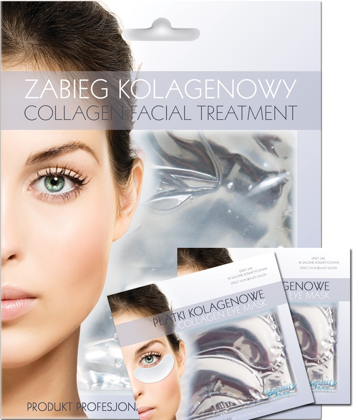 SUPER OFFER SET  Smoothing collagen face mask + 2 pcs eye collagen patch - only 19,90 PLN