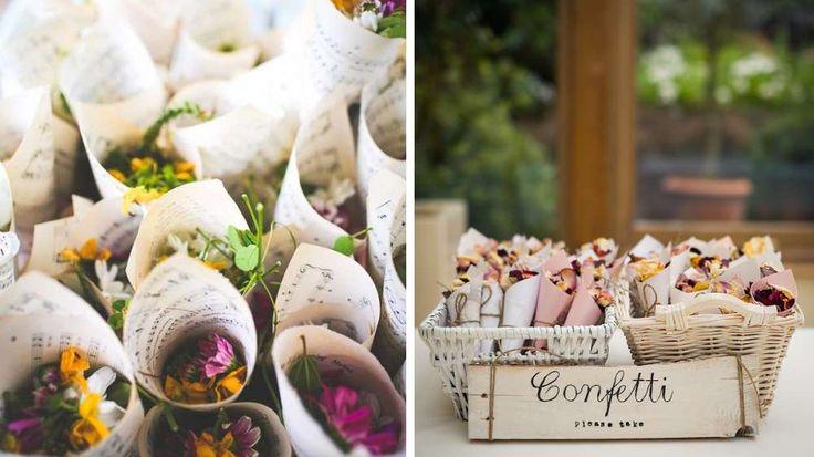 confettis fleurs mariage champetre