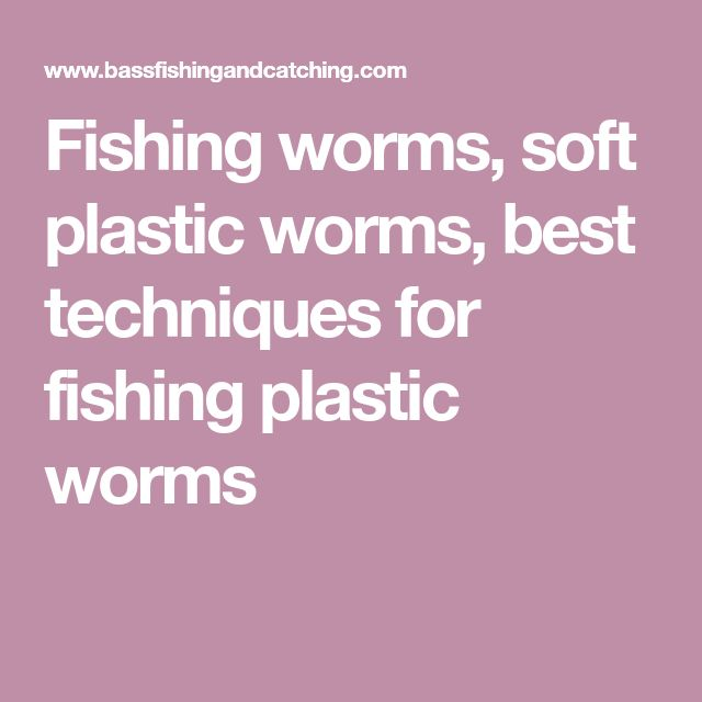 Fishing worms, soft plastic worms, best techniques for fishing plastic worms