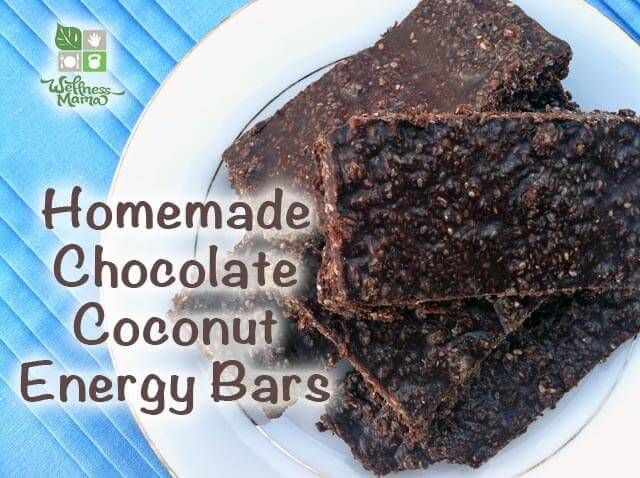 Chocolate Coconut Energy Bars  These homemade energy bars are packed with chocolate, coconut oil and shredded coconut for a healthy and delicious treat. Kid-approved!