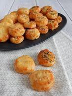Kaaskoekjes als borrelhapje. Het recept voor deze lekkere kaaskoejes staat op mijn blog Homemade by Joke