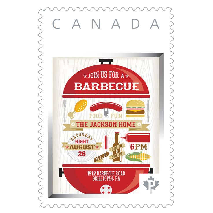 Turn a stamp into something yummy, by creating your own personalized stamp for invitations to your next BBQ.