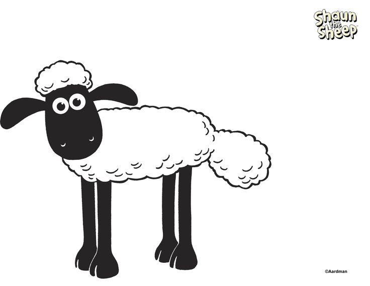 shaun the sheep coloring page - Shaun The Sheep Coloring Pages