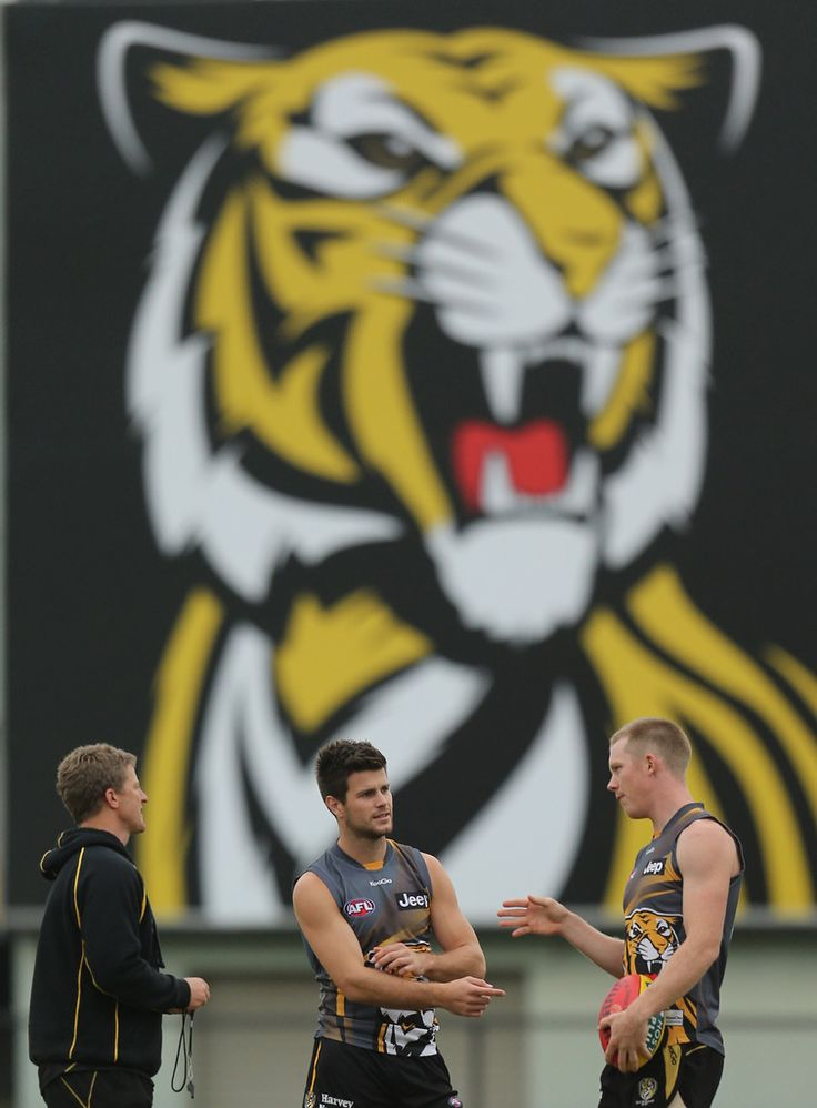 Jack Riewoldt and Trent Cotchin Photo - Richmond Tigers AFL Training Session