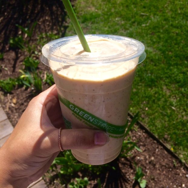 The Aphrodite smoothie from Healthy Being Juicery in Jackson Hole, Wyoming