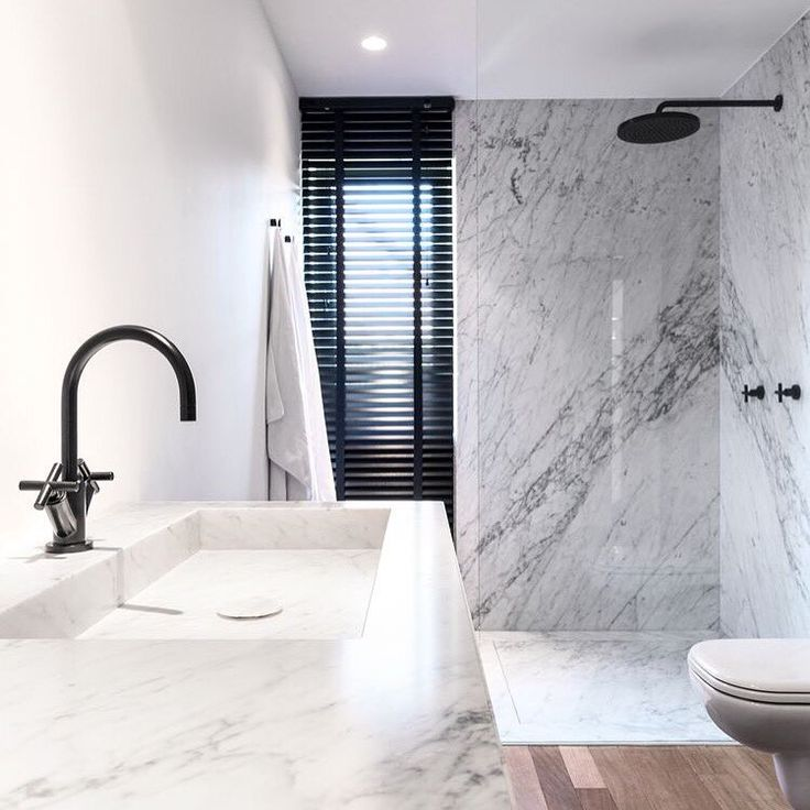 "NINA on Twitter: ""#Bianco #Carrara #marble #Slab shower walls and #Statuario #countertops gorgeous!  https://t.co/FBLwm5JAda"""
