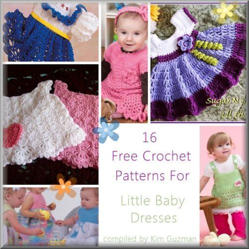 16 Precious Free #Crochet Patterns for Baby Dresses | STOP searching and START making. CrochetStreet.com