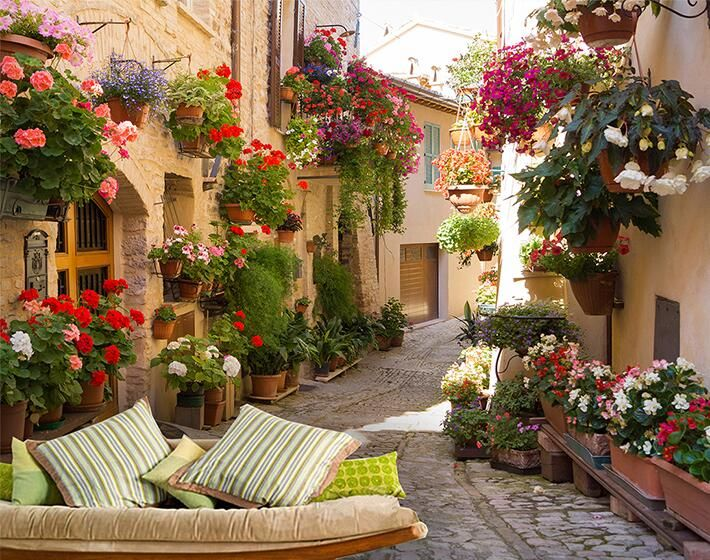 photo wallpaper Continental Mediterranean landscape architecture  bedroom living room TV wall painting wall mural wall paper
