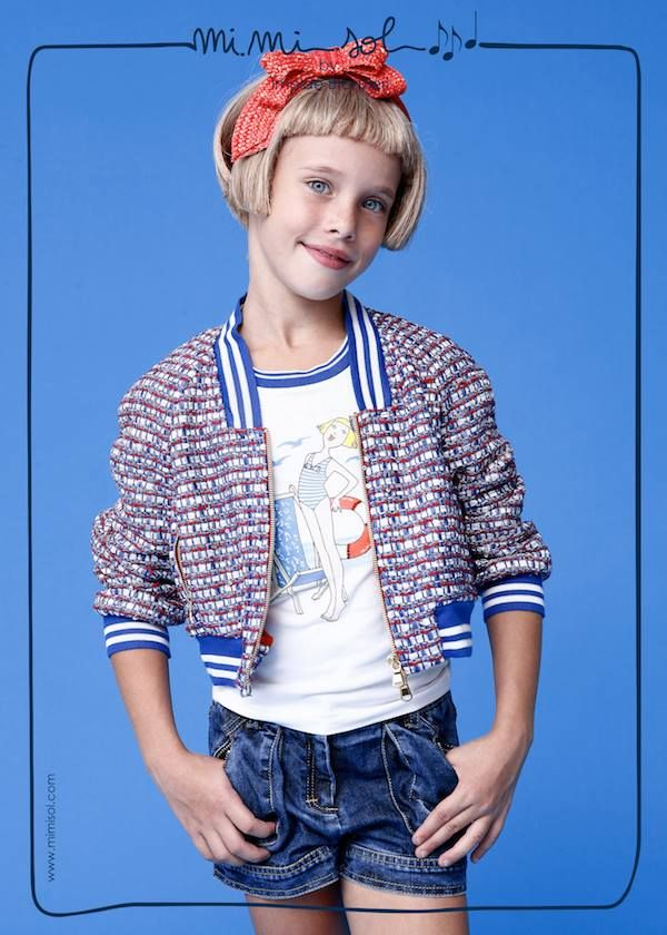 """""""Colors, like features, follow the changes of the emotions. """" Pablo Picasso #MiMiSol #imeldebronzieri #SS14 #colors emotions #childrenswear #jacket #blue"""