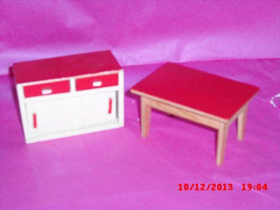 Lundby Barton kitchen table an work unit by VintageLundbyLove, £6.00