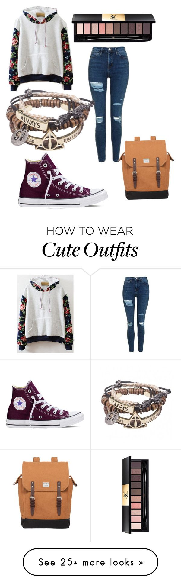 """Another School Outfit"" by chaoticstars on Polyvore featuring Topshop, Converse, Yves Saint Laurent and Sandqvist"