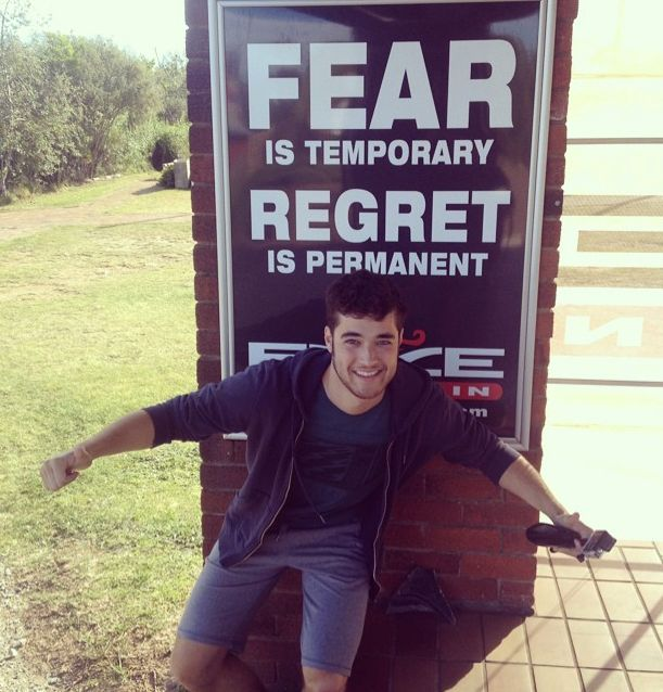 Fear is temporary, regret is permanent