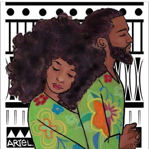 #NaturalHair Art >> Love by Keturah Ariel. African-American Relationships, Dating, Marriage