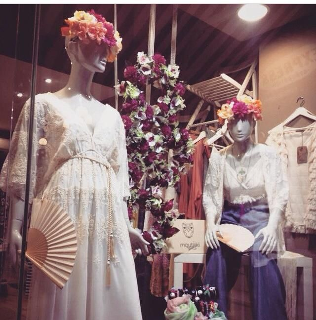 A beautiful shop window by Shop-Shop by STEFI MANTA with totally moutaki outfits!!!